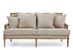 One Kings Lane - Foundation: Furniture Finds - Louis Sofa, Oatmeal