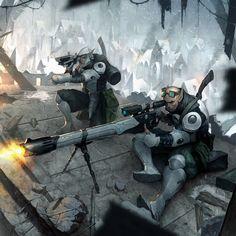 Retribution Heavy Rifle Crew Picture  (2d, illustration, sniper, sci-fi)