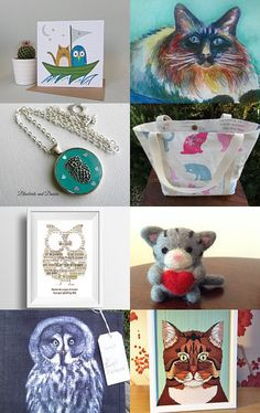 The Owl and the Pussycat. by Lindsay Buck on Etsy--Pinned with TreasuryPin.com