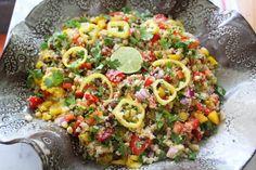 Peruvian Quinoa with Vegetables - Recipes - Sur Le Plat Vegetarian Sandwich Recipes, Lunch Recipes, Vegetable Recipes, Salad Recipes, Healthy Recipes, Vegetable Salad, Healthy Food, Healthy Eating, Peruvian Cuisine