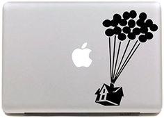 "Vati Leaves Removable Creative Cartoon Up Decal Sticker Skin Art Black for Apple Macbook Pro Air Mac 13"" 15"" inch / Unibody 13"" 15""Inch Laptop"