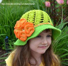 Örgü Yazlık Şapka Modelleri