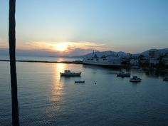 Sunset from the top of the mast, in Marmari, Evia Greece   Credits: P.P.Christopoulou