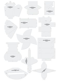 Free Template | many different envelopes and boxes. Downloadable templates