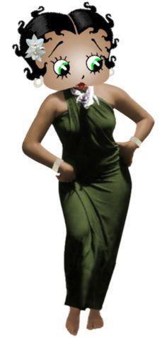 Betty Boop White Orchid ~ Tonga #cartoons #illustration ✿⊱╮