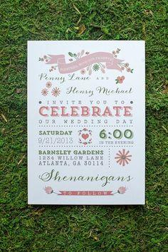 Modern garden party wedding invitation - so pretty #wedding #gardenparty #invitation #weddinginvitation #springwedding
