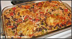 Hot Eats and Cool Reads: Chicken, Rice and Black Bean Bake Recipe