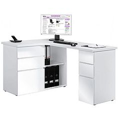 Radcliff Corner Computer Desk White  www.officefurnitureonline.co.uk