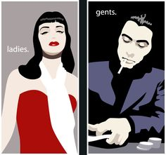 Mafia theme party toilet door posters