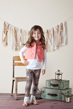 Ryleigh Rue Clothing by MVB - Girls Fashion Vest With Lace Salmon, $22.00 (http://www.ryleighrueclothing.com/new/girls-fashion-vest-with-lace-salmon.html/)
