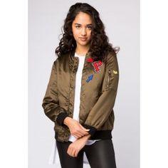 Girls Boyfriend Fit Patched Bomber Jacket