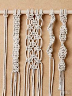 macrame/macrame anleitung+macrame diy/macrame wall hanging/macrame plant hanger/macrame knots+macrame schlüsselanhänger+macrame blumenampel+TWOME I Macrame & Natural Dyer Maker & Educator/MangoAndMore macrame studio Diy Macrame Wall Hanging, Macrame Plant Hangers, Macrame Art, Macrame Projects, Craft Projects, How To Macrame, Sewing Projects, Macrame Mirror, Macrame Curtain