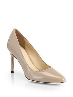 Cole Haan Bethany Patent Leather Pumps - Maple Sugar - Size