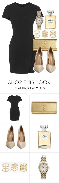 """Style #9870"" by vany-alvarado ❤ liked on Polyvore featuring Topshop, Yves Saint Laurent, Kurt Geiger, Chanel, Torrid and Rolex"