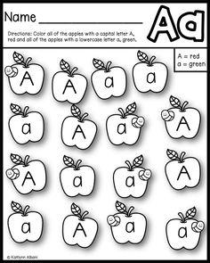 free alphabet practice pages apple themed sample preschool class kindergarten literacy