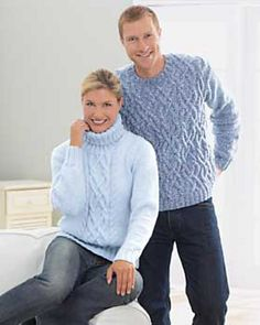 His and Her Aran Knits pattern by Bernat Design Studio
