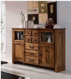 #aparador #rústico mejicano de 4 puertas con 7 cajones en madera de pino macizo. Ideal combinar junto a una vitrina o mesa del mismo estilo. Más información en: http://rusticocolonial.es/mueble-rustico-y-mueble-mejicano-de-gran-calidad-al-mejor-precio/muebles-de-salon-rusticos-y-mejicanos-de-gran-calidad-al-mejor-precio