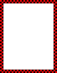 Printable red and black checkered border. Free GIF, JPG, PDF, and PNG downloads at http://pageborders.org/download/red-and-black-checkered-border/