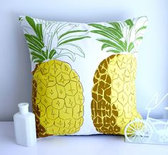 Helpful Guidelines In Growing Indoor Bonsai Trees Pineapple Cushion Pillow Retro Kitsch Yellow, White, Green Tropical Fruit Yellow Pillows, Throw Pillows, Indoor Bonsai Tree, Line Texture, Pineapple Print, Pineapple Icon, Yellow Interior, Style Deco, Tropical Style