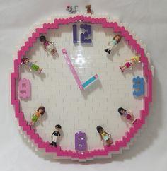 LEGO Friends Clock by TheBrickMan, via Flickr