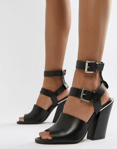 ecdb00472d DESIGN Husk Wide Fit Caged Heeled Sandals | Wide width heels | Sandals,  Shoes, Heels