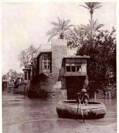 A house overlooking Tigris river,Baghdad, Iraq, 1914