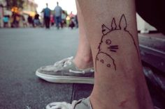 FEATURE: The Best of Anime Tattoos! ~ Totoro Tatto w/wonderful placement! :)