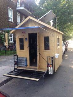Diy Décoration, Easy Diy, Simple Diy, Diy Camper Trailer, Tiny Camper, Rustic Outdoor Decor, Rustic Patio, Pallet Patio Furniture, Home Modern