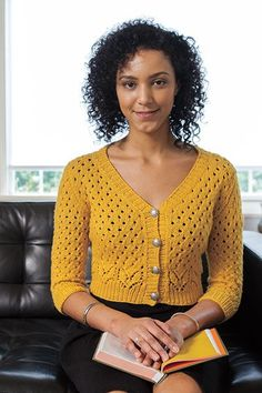 Elegant lines and a classic shape make the Sunshower Cardigan a garment you'll love to knit. Top-down construction make knitting it a breeze. Relaxed and satisfying, you'll wear your this lovely sweater for years to come! Cardigan Pattern, Knit Cardigan, Knitting Patterns, Crochet Patterns, Knit Picks, Lace Knitting, Pulls, Knitwear, Knit Crochet