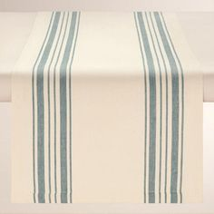 Perfect for everyday use, our classic cotton table runner features blue French-style stripes set against a natural background. Pair it with our coordinating napkins and placemats for a put-together look at a can't-miss price.