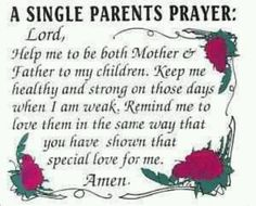 Single Parents Prayer
