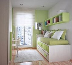 Great storage design for a small room. More ideas @BrightNest Blog
