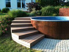 Backyard Pool Designs, Small Backyard Pools, Small Pools, Backyard Ideas, Backyard Patio, Backyard Landscaping, Swimming Pool Landscaping, Swimming Pools Backyard, Swimming Pool Designs