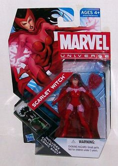 Marvel Universe Series Scarlet Witch Action Figure w Collectible Comic Shot   eBay