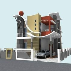 Top 30 Modern House Design Ideas For 2020 - Engineering Discoveries 3 Storey House Design, House Gate Design, Kerala House Design, Bungalow House Design, House Front Design, Modern Exterior House Designs, Best Modern House Design, Modern Architecture House, Modern Bungalow House