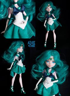 Custom Sailor Neptune Doll by Azure-and-Copper on DeviantArt