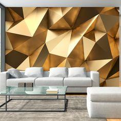 Fototapeta gold #art #3d #gold #design