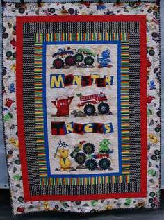 Another Monster Truck Quilt | Quilts | Pinterest | Monster trucks ... : monster truck quilt - Adamdwight.com
