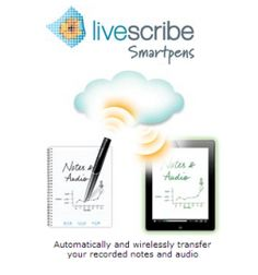Livescribe Sky Wi-Fi Smartpen -- The 4GB Sky Wifi Smartpen records everything you write and hear together or separately. Tap anywhere on your notes to replay the audio from that moment in time. It automatically and wirelessly transfer your recorded notes and audio to your free Livescribe edition of Evernote for play back on nearly any device. It can quickly search, share and replay your lectures, meetings and ideas any time on nearly any device.