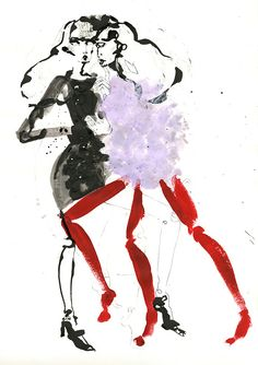 showstudio:        Emilio Pucci illustrated by Fiona Gourlay