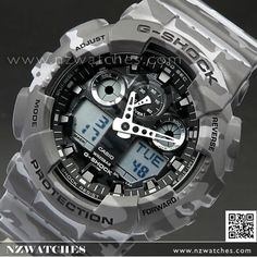 Casio G-Shock Camouflage World time Military Watch GA-100CM-8A 352057f86