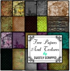 Free papers and textures by sweetly scrapped