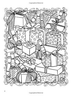 ChristmasScapes (Dover Holiday Coloring Book): Jessica Mazurkiewicz