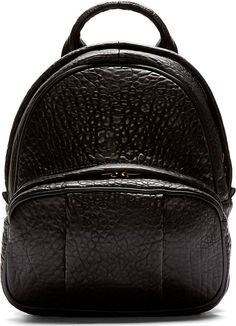 Alexander Wang Black Grained Leather Dumbo Backpack on shopstyle.com