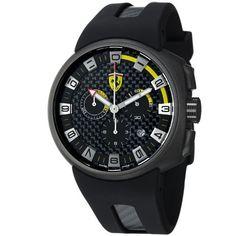 Ferrari F1 Podium Men's Gun PVD Carbon Fiber Dial Chronograph Watch FE-10-IPGUN-CG/FC-FC Ferrari. Save 55 Off!. $494.99