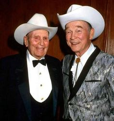 Two of the best Hollywood Cowboys  Gene Autry and Roy Rogers