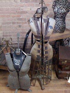 Assorted vintage dress forms
