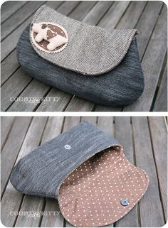 sweet dog curvy clutch by countrykitty, via Flickr