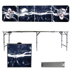 Gonzaga Bulldogs 8 Foot Portable Tailgate and Pong Table