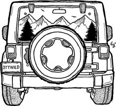 Cars Discover Jeep Adventure Ahead Sticker by irish.kate art Jeep Adventure Ahead by irish. Jeep Drawing, Jeep Tattoo, Car Drawings, Jeep Life, Life Car, Car Wheels, Custom Cars, Art Inspo, Art Sketches